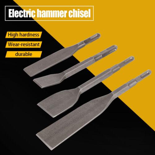 4Pcs Steel Pneumatic Hammer Chisels Tips Flat Bit Set for Descaler Square Shank