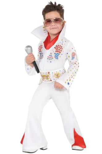 Brand New Elvis Presley Cosplay King of Vegas Child Costume Medium