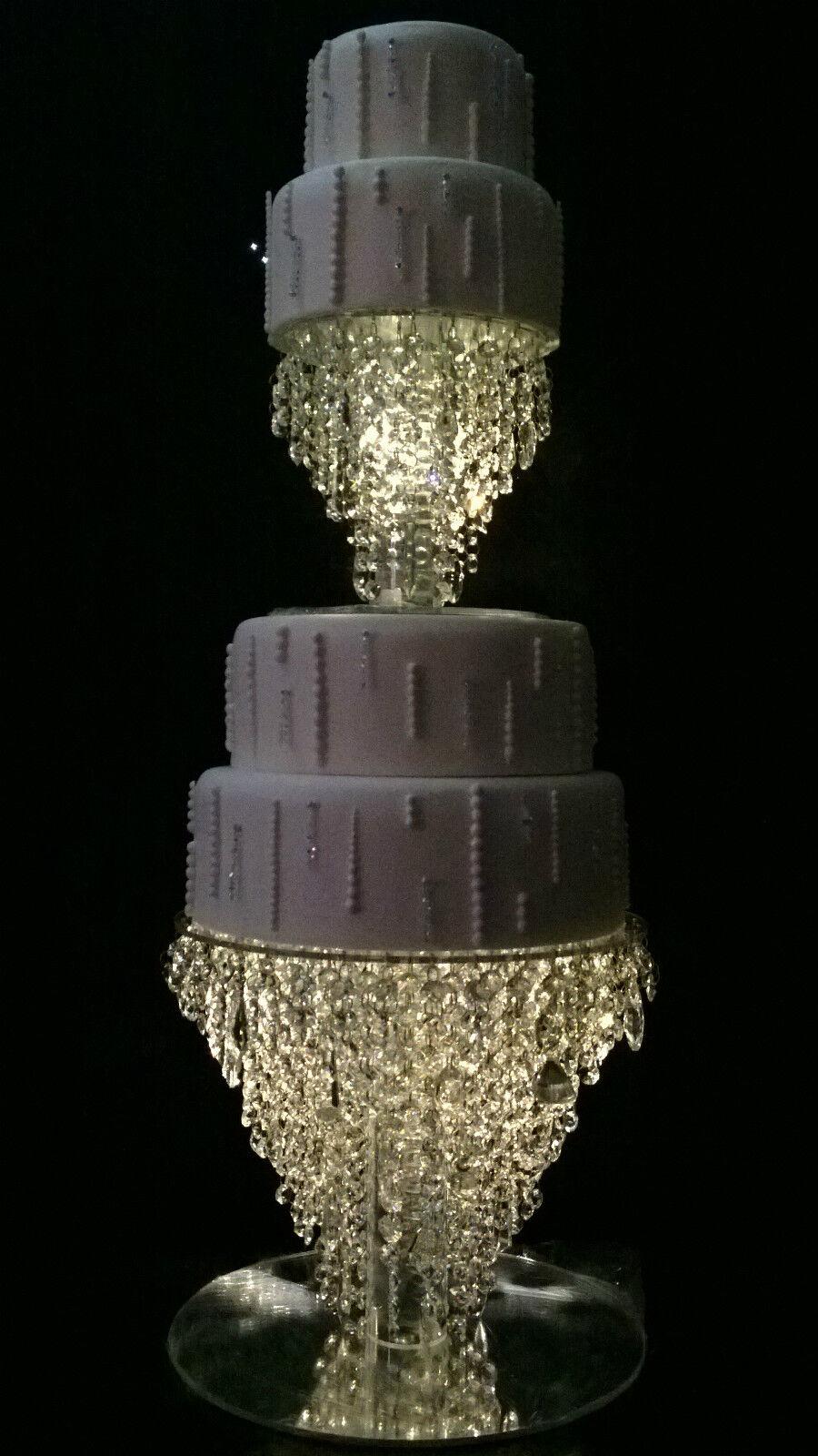 Lustre gateau stand crystal cake stand pour mariage en 6  à 20  ronde carrée