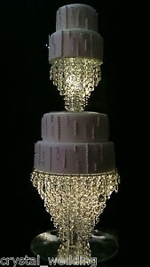 Chandelier cake stand crystal cake stand for wedding in 6 to 20 image is loading chandelier cake stand crystal cake stand for wedding aloadofball Choice Image