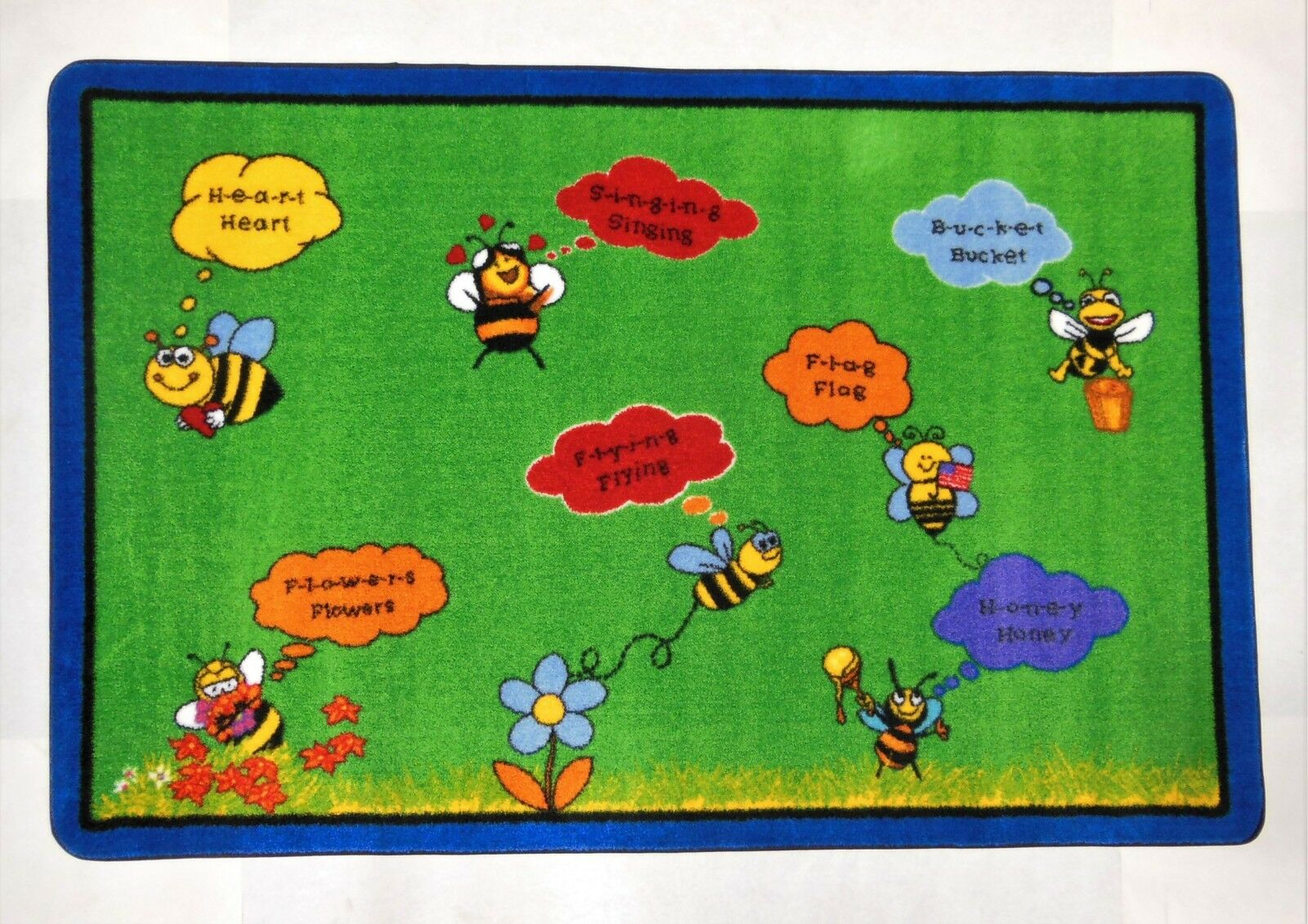 Educational Tapis pour les écoles-Day Care-Kids Room .4  4  X 5' 6  Spelling Bee