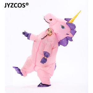dc5969cf627d Inflatable Unicorn Costume Kid Halloween Fancy Dress Blow Up Suit ...