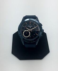 Fossil-Q-Modern-Pursuit-Gen-2-Women-039-s-Hybrid-Smartwatch-Blue-Silicone-FTW1136
