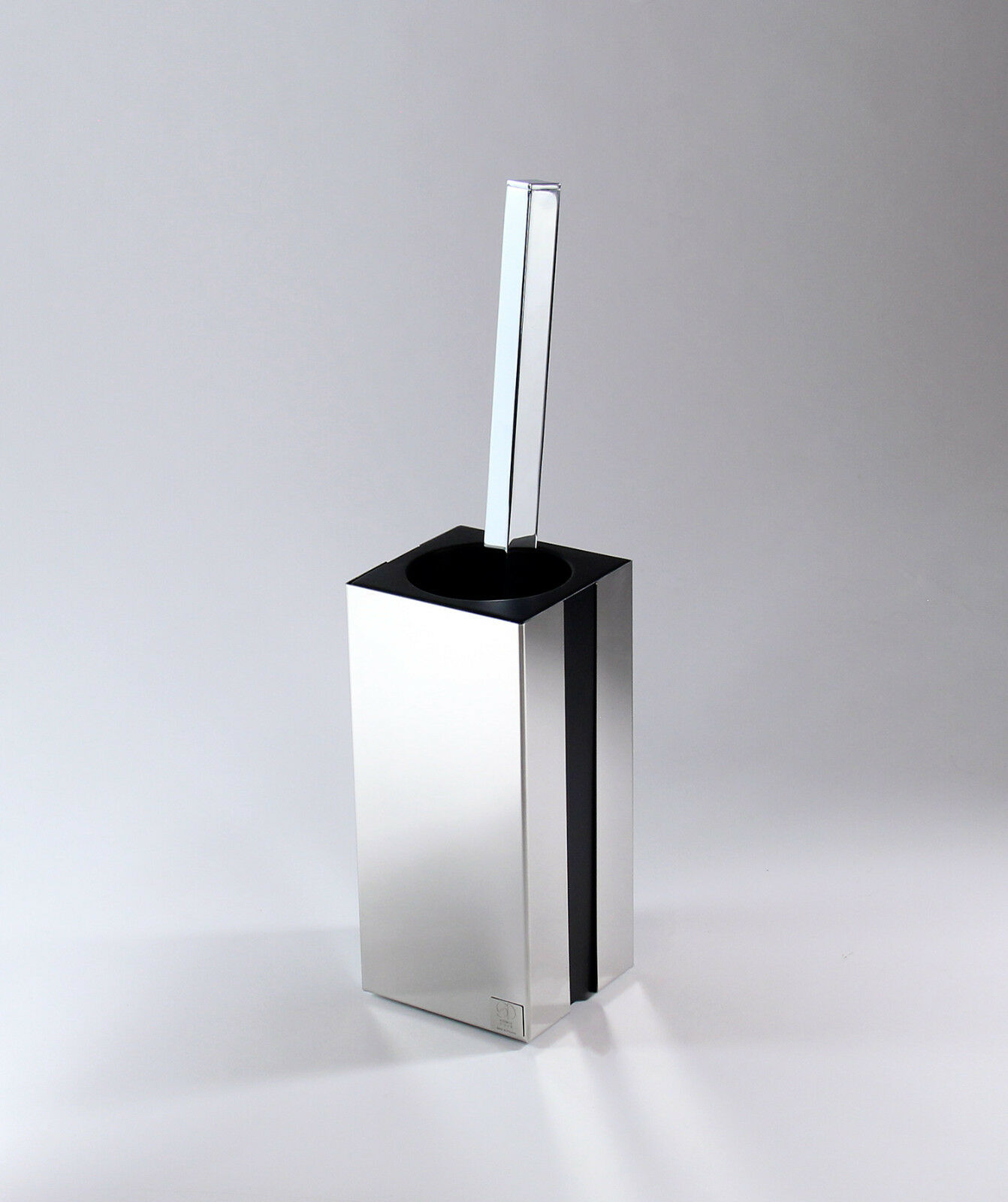 Toilettenbürstenhalter  WC-Bürste aus Edelstahl mit schwarzem Mineralguss