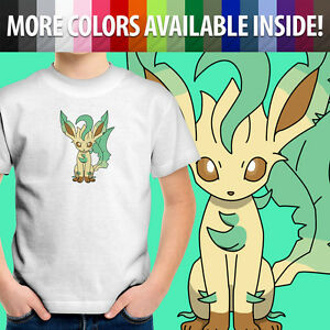 6f9b2b71 Image is loading Leafeon-Eevee-Nintendo-Game-Freak-Kawaii-Unisex-Kids-