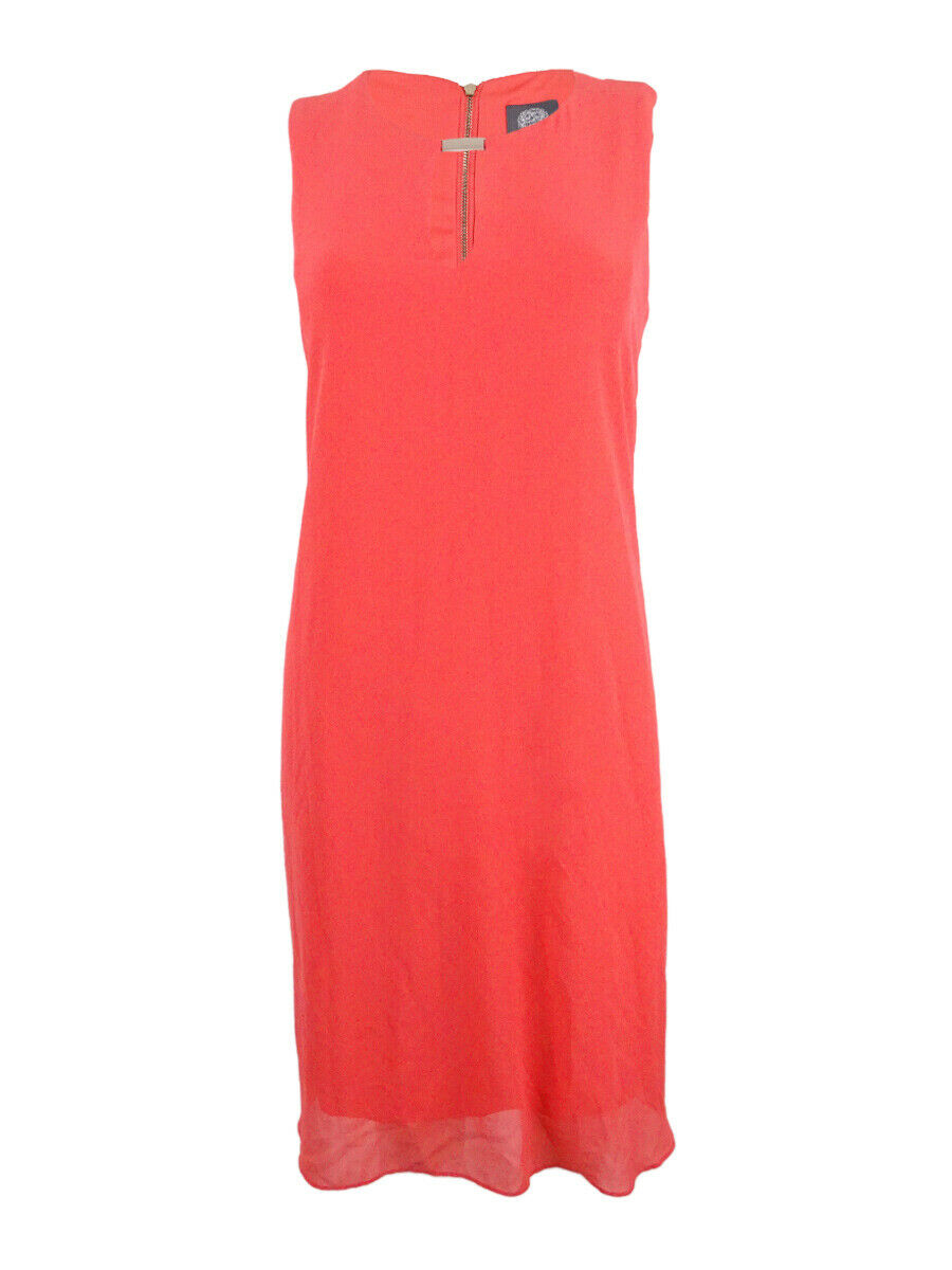 Vince Camuto Woherren Sleeveless Keyhole Flyaway Dress