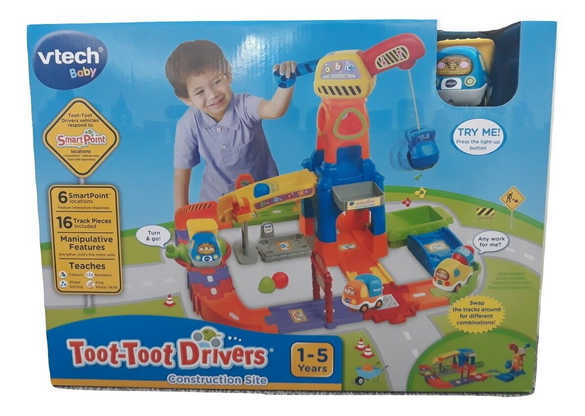NEW VTech Toot-Toot Drivers Construction Site Playset Interactive Play For Kids