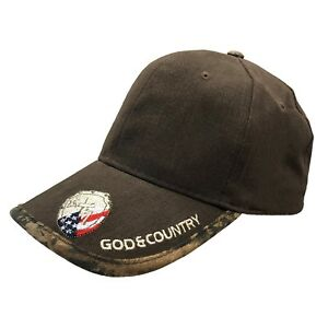 God-and-Country-Hat-Rockpoint-Blue-Red-White-Brown-Christian-cap-Adjustable