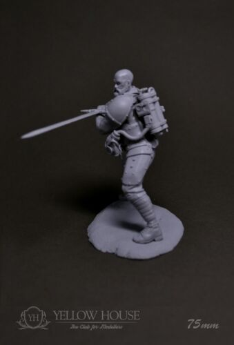 WWI Steampunk Infantry Soldier Sword 75mm Resin Yellow House Club Andrea Pegaso