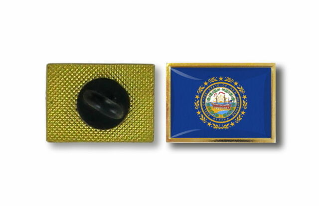 pins pin's flag national badge metal lapel hat button vest usa new hampshire