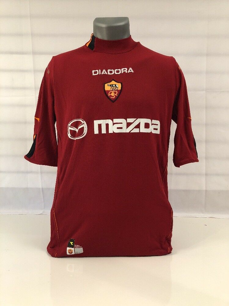 Mazda Diadora AS Roma  ROT Soccer Jersey Shirt Sz XL Andy Number 9