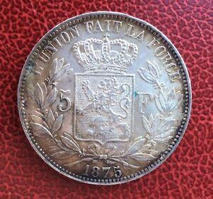 Belgique - Léopold Ii - Superbe Monnaie De 5 Francs 1875 En Argent 6tgim6rh-07234800-816051062