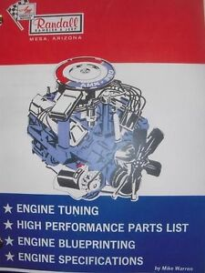 AMC Randall XR AMX Javelin Gremlin Jeep 290 343 390 racing hi-po engine book