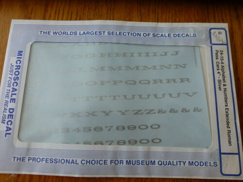 Microscale Decal #30034 Alphabet & Numbers Extended Roman Pass Car 4 Silver