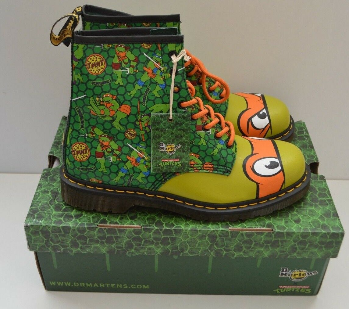 Dr Martens Adult TMNT Mikey Boots Shoes Teenage Mutant Ninja Turtles Size 12