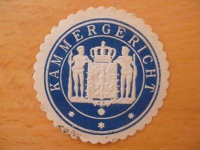 (11586) Siegelmarke - Kammergericht Schrumpffrei