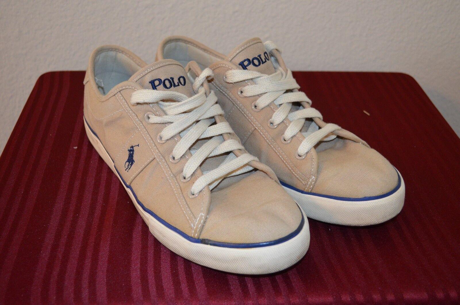 Ralph Lauren 100% Authentic Beige Sneaker Men Men Men Size 10 MSRP $85 fb7c77