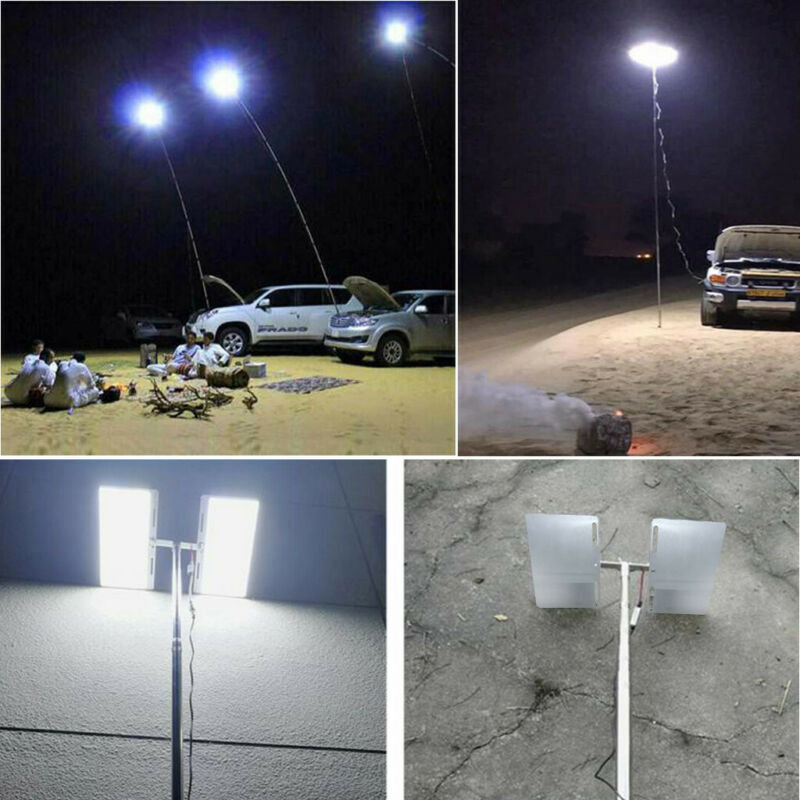 Telescopic COB Rod LED Fishing Outdoor Camping Lantern Light