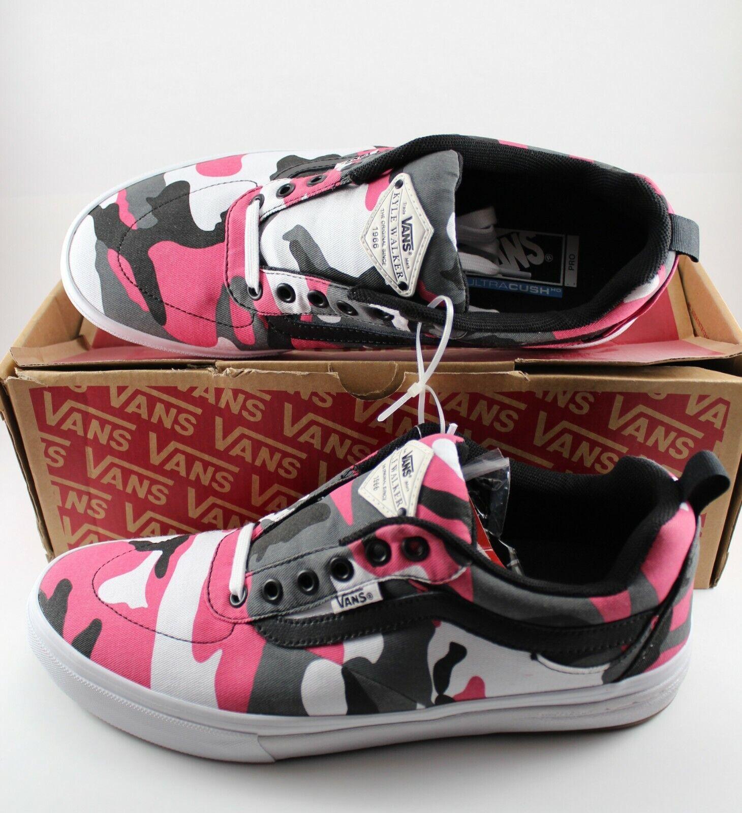 Vans Kyle Walker Pro Negro Magenta Camuflaje Zapatos  Hombre 9.5 (NIB) L @ @ K