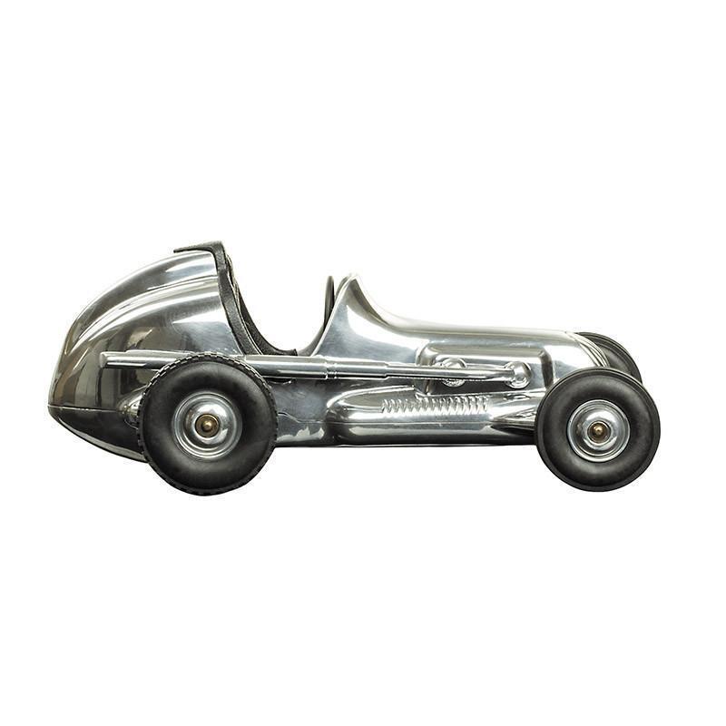 Hornet Racecar  Polished Aluminum Model Car