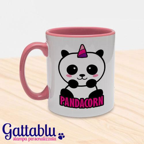Tazza colorata Pandacorn Panda unicorno kawaii Rosa!