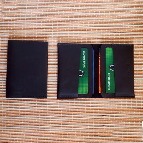 Vera Pelle Bifold ID carta di credito Portafoglio Sottile Tasca Titolare della carta UK Venditore