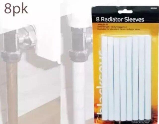 Plumb-Pak Radsnap Radiator White Pipe Sleeves 15mm x 202mm Pack of 6