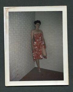 Vtg 40s Pinup Girl Snapshot WW2 Era Risque Nude Spicy