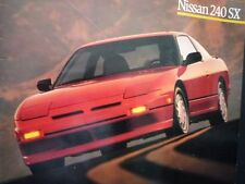NISSAN 240SX Brochure 1988 US S13 SE XE K24E 180SX 200SX Sylvia 日産 シルビア ワンビア