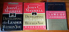 John C. Maxwell book Lot: Developing the Leader Within You, 21 Irrefutable Laws