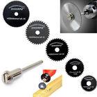 5Pcs HSS Saw Blades For Metal Dremel Rotary Tool Cutting Discs Wheel + 1 Mandrel