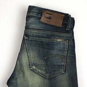 G-STAR RAW Hommes 3301 Jeans Jambe Droite Taille W29 L34 ARZ455