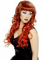RED//BLACK FRINGED  WIG,HALLOWEEN FANCY DRESS ACCESSORY.