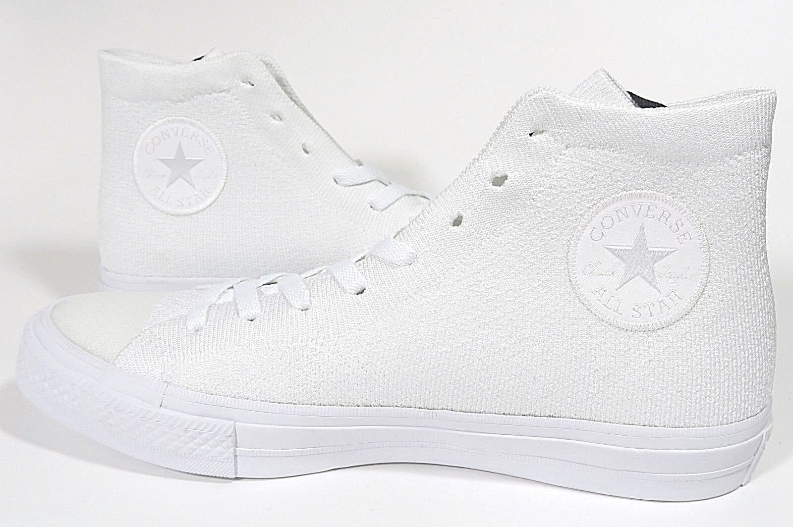 Mens Converse Chuck Taylor All Star Flyknit High Top White Size 8 156734C