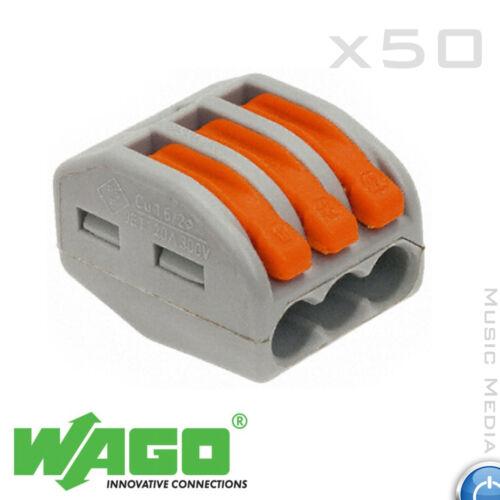WAGO-MOLLA LEVA Push Fit riutilizzabile Cavo 3 fili connettori 32A 3 VIE