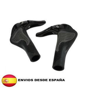 Cuernos-Punos-Manillar-Montana-Ciclismo-Bici-Bicicleta-gris-negro