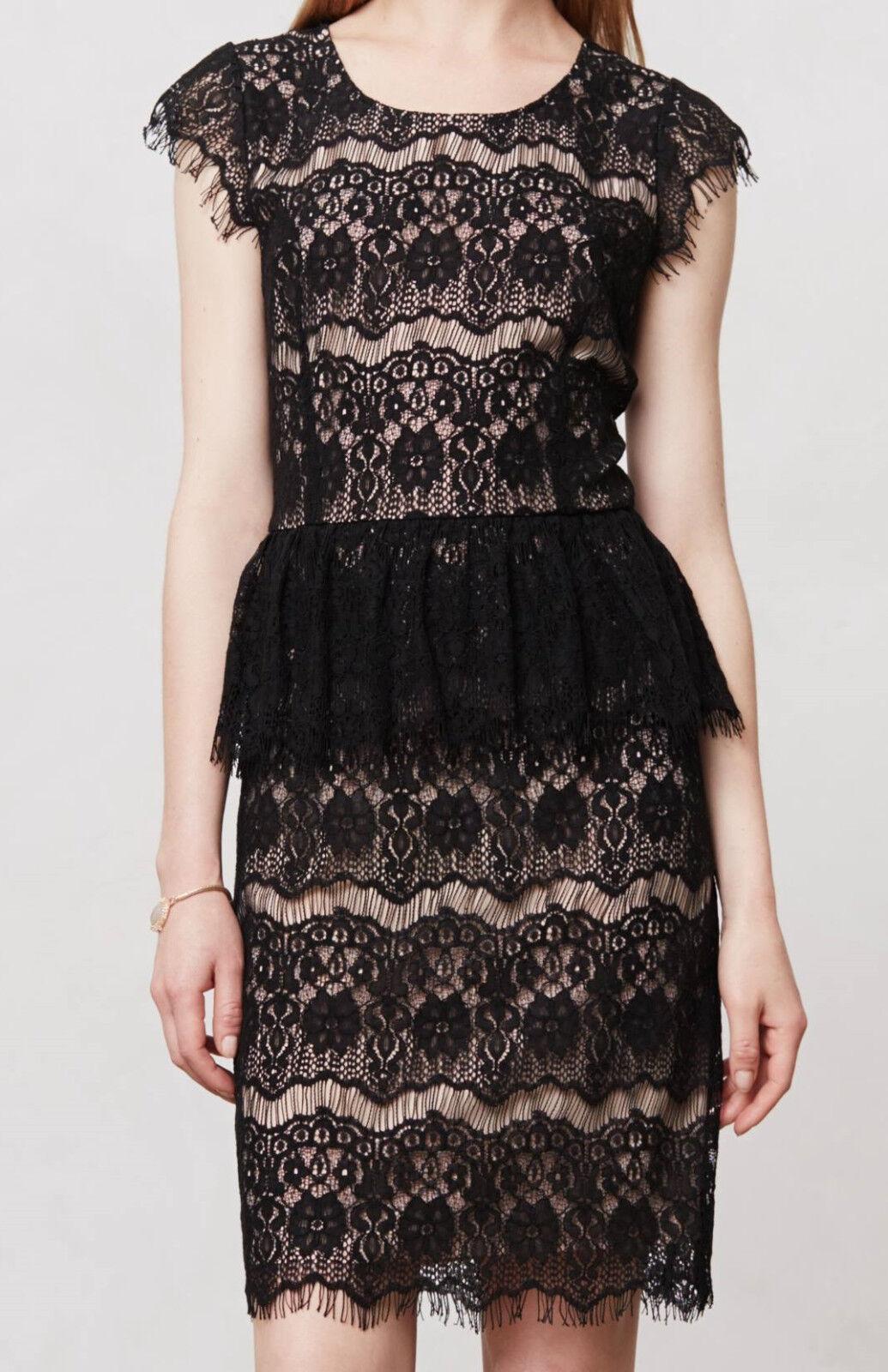 Maeve Lace Sheath Elsa Peplum Dress Größe Large Various Farbe NW ANTHROPOLOGIE Ta