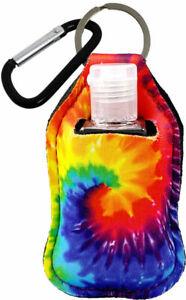 Tye Dye Keyring (Key Chain) Key Fob Sanitizer Holder