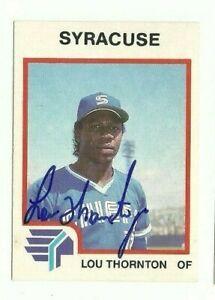 Lou-Thornton-1987-ProCards-Syracuse-Chiefs-autographed-auto-signed-card