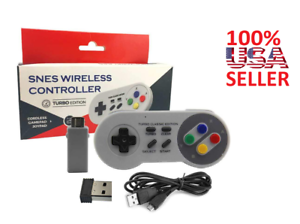 Details about Rechargeable Wireless Controller For Super Nintendo SNES  Classic Mini GrayTURBO