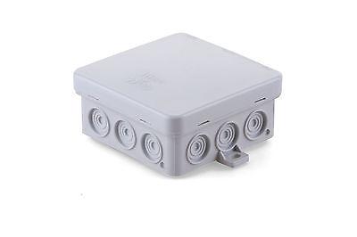 8x Abzweigdose Abzweigdosen IP54 100x100x40mm Feuchtraum VDE CE Aufputz Dose