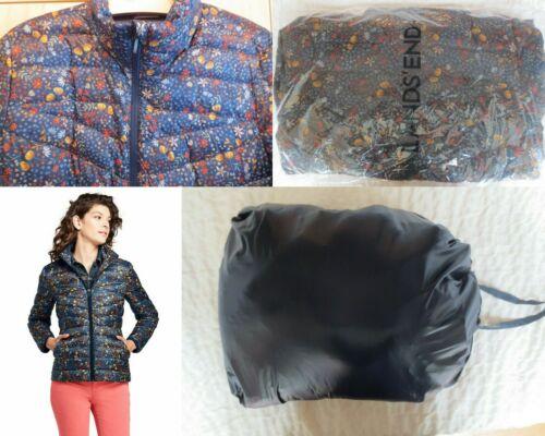 NWT Lands End Womens Down Ultralight Packable Puffer Jacket XS 2-4