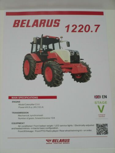 2551 BELARUS 1220.7 Traktoren Prospekt