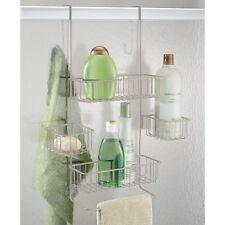 InterDesign Metalo Over-the-Door Shower Caddy W  sc 1 st  eBay & InterDesign Metalo Bathroom Over Door Shower Caddy for Shampoo ...