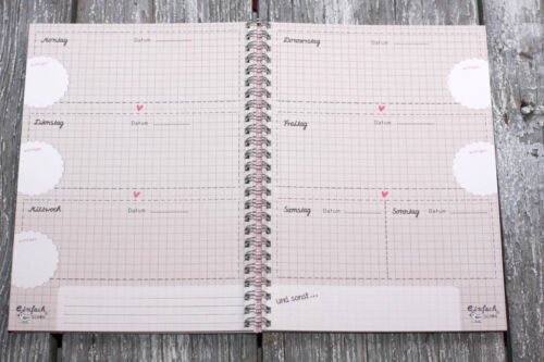 """/""""My great Organizer/"""" Jahresplaner mit 52 Wochen DIN A5 Kalender Organizer"""