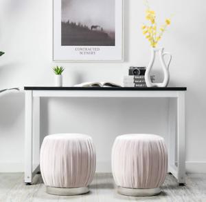 Excellent Details About Velvet Bathroom Vanity Stool Bedroom Ottoman Footrest Round Footstool Pouf New Beatyapartments Chair Design Images Beatyapartmentscom