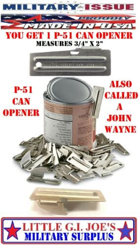 USA Army USMC 1 NEW P-51 Can Opener John Wayne Military Issue P51 By Shelby Co