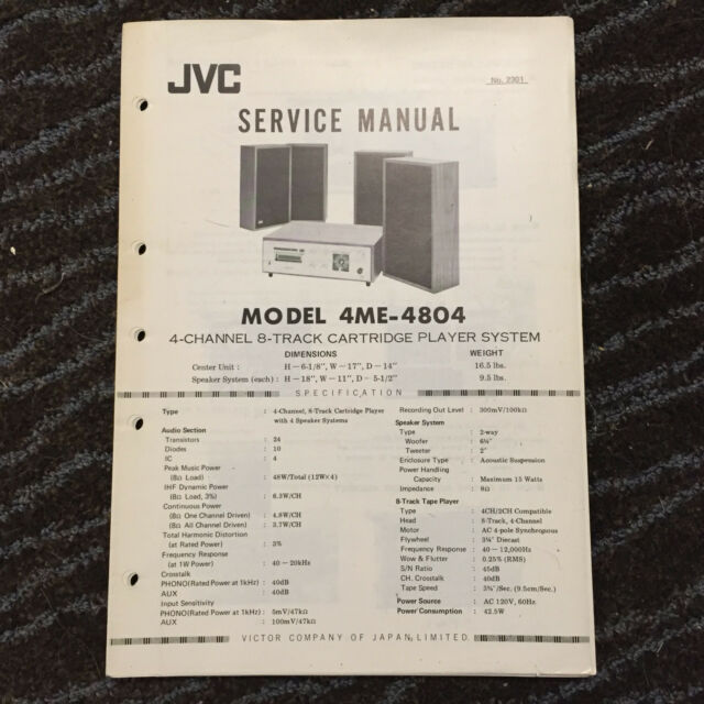 Original JVC Service Manual for JVC Stereo Systems and Radios ~ Select One