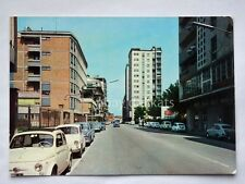 VICENZA Via Milano Fiat 500 vecchia cartolina