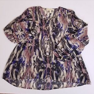 Staring at Stars Blouse 3/4 Sleeve Shirt Top Women's Size XS Extra Small